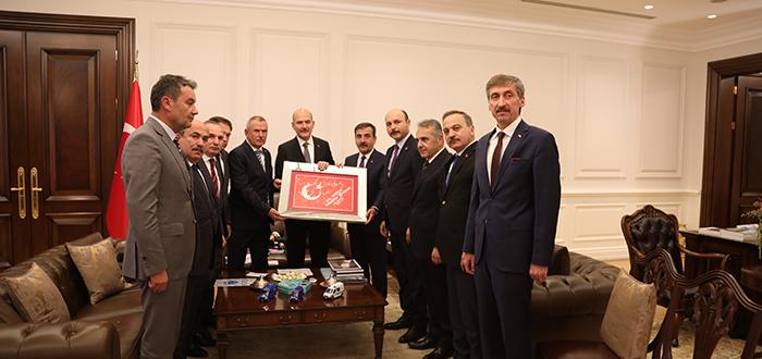 İçişleri Bakanı Süleyman Soylu'yu Ziyaret Ederek İstişarelerde Bulunduk