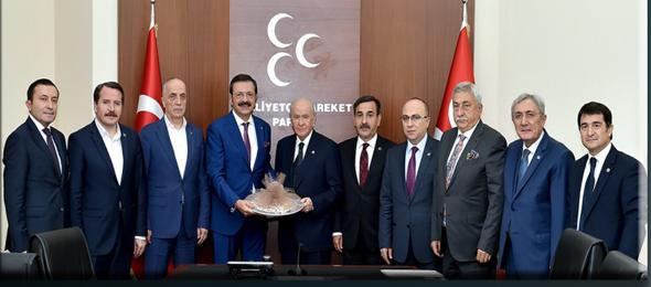 Karma İstişare Komitesinden MHP Lideri Devlet Bahçeli'ye Ziyaret